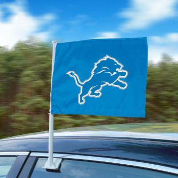 """11"""" x 14"""" Detroit Lions Blue Car Flag"""
