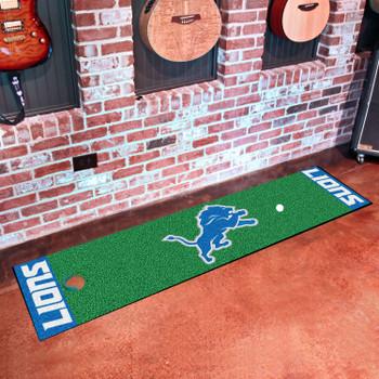 """18"""" x 72"""" Detroit Lions Putting Green Runner Mat"""