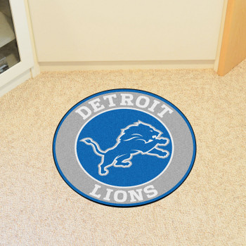 """27"""" Detroit Lions Roundel Round Mat"""
