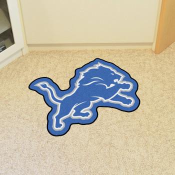 Detroit Lions Blue Mascot Mat