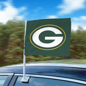 "11"" x 14"" Green Bay Packers Green Car Flag"