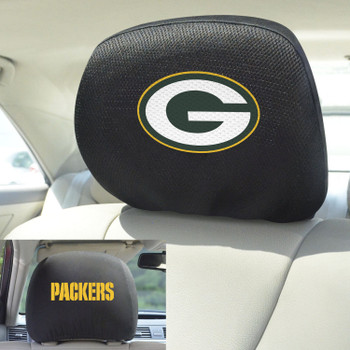 Green Bay Packers Car Headrest Cover, Set of 2