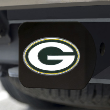 Green Bay Packers Hitch Cover - Green on Black