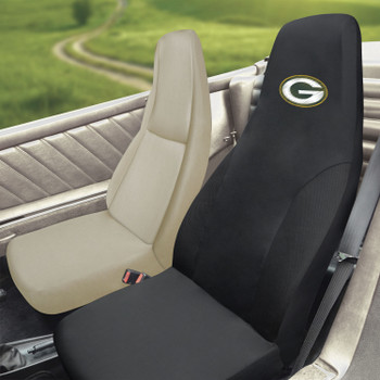 Green Bay Packers Black Car Seat Cover