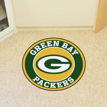 """27"""" Green Bay Packers Roundel Round Mat"""