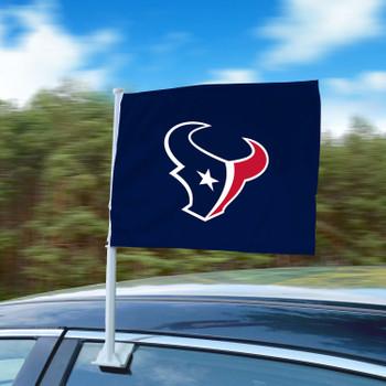 "11"" x 14"" Houston Texans Blue Car Flag"