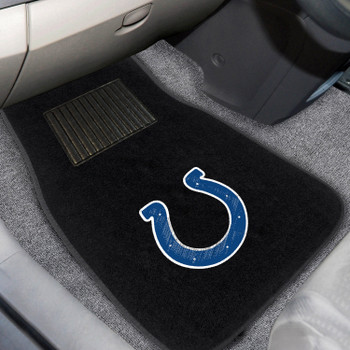 Indianapolis Colts Embroidered Black Car Mat, Set of 2