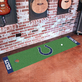 """18"""" x 72"""" Indianapolis Colts Putting Green Runner Mat"""