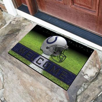 """18"""" x 30"""" Indianapolis Colts Blue Crumb Rubber Door Mat"""