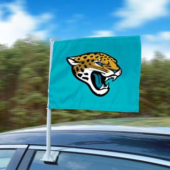 "11"" x 14"" Jacksonville Jaguars Teal Car Flag"