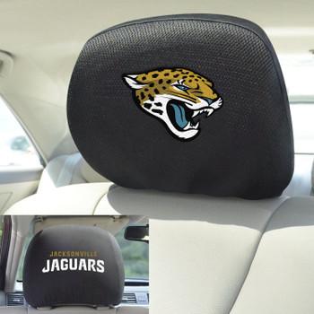 Jacksonville Jaguars Car Headrest Cover, Set of 2
