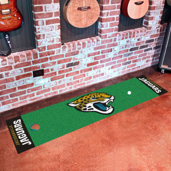 "18"" x 72"" Jacksonville Jaguars Putting Green Runner Mat"