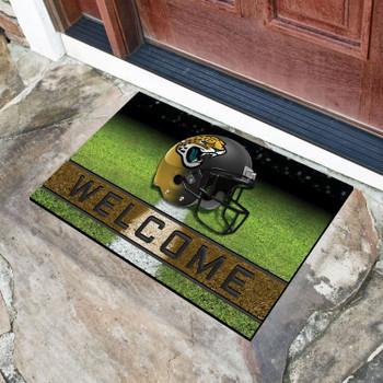 """18"""" x 30"""" Jacksonville Jaguars Black Crumb Rubber Door Mat"""