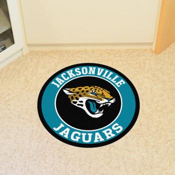 "27"" Jacksonville Jaguars Roundel Round Mat"