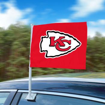 """11"""" x 14"""" Kansas City Chiefs Red Car Flag"""