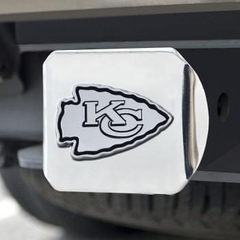 Kansas City Chiefs Hitch Cover - Chrome on Chrome