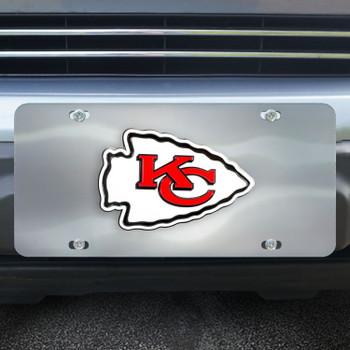 Kansas City Chiefs Diecast Stainless Steel License Plate