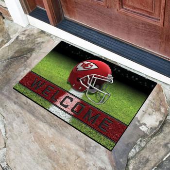 """18"""" x 30"""" Kansas City Chiefs Red Crumb Rubber Door Mat"""