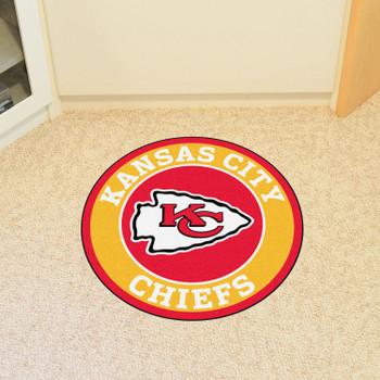 """27"""" Kansas City Chiefs Roundel Round Mat"""