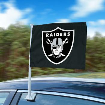 """11"""" x 14"""" Las Vegas Raiders Black Car Flag"""