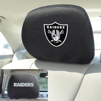 Las Vegas Raiders Car Headrest Cover, Set of 2