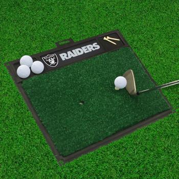 "20"" x 17"" Las Vegas Raiders Golf Hitting Mat"