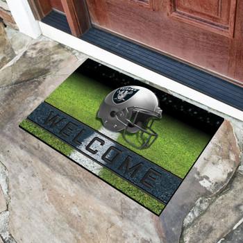 "18"" x 30"" Las Vegas Raiders Black Crumb Rubber Door Mat"