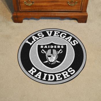"""27"""" Las Vegas Raiders Roundel Round Mat"""