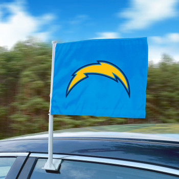 """11"""" x 14"""" Los Angeles Chargers Light Blue Car Flag"""