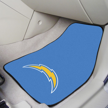 Los Angeles Chargers Navy Carpet Car Mat, Set of 2