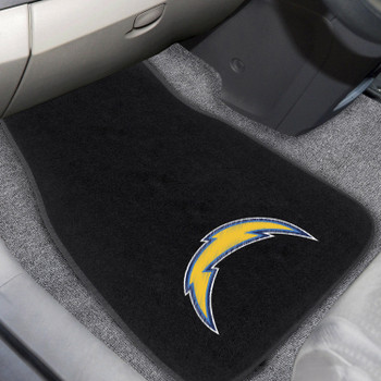 Los Angeles Chargers Embroidered Black Car Mat, Set of 2