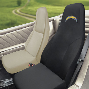 Los Angeles Chargers Black Car Seat Cover