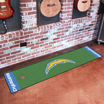 """18"""" x 72"""" Los Angeles Chargers Putting Green Runner Mat"""