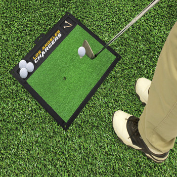 """20"""" x 17"""" Los Angeles Chargers Golf Hitting Mat"""