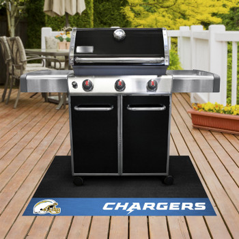 """26"""" x 42"""" Los Angeles Chargers Vinyl Grill Mat"""