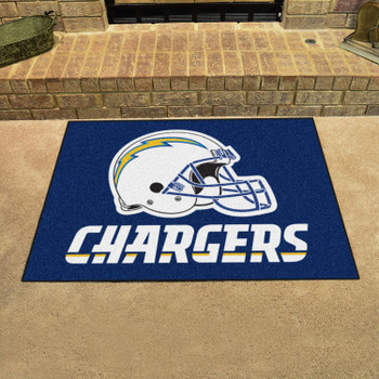 """33.75"""" x 42.5"""" Los Angeles Chargers All Star Navy Rectangle Rug"""
