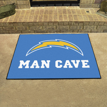 """33.75"""" x 42.5"""" Los Angeles Chargers Man Cave All-Star Navy Rectangle Mat"""