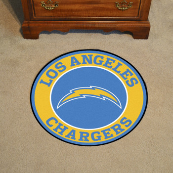 """27"""" Los Angeles Chargers Roundel Round Mat"""