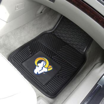 Los Angeles Rams Black Vinyl Car Mat, Set of 2