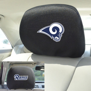 Los Angeles Rams Car Headrest Cover, Set of 2