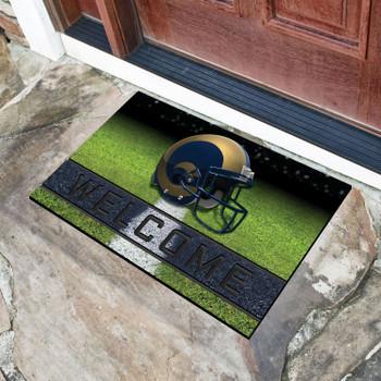 """18"""" x 30"""" Los Angeles Rams Navy Crumb Rubber Door Mat"""