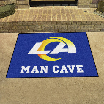 """33.75"""" x 42.5"""" Los Angeles Rams Man Cave All-Star Navy Rectangle Mat"""