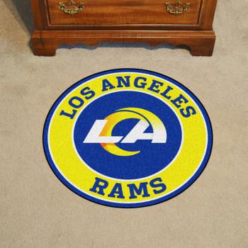 "27"" Los Angeles Rams Roundel Round Mat"