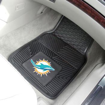Miami Dolphins Black Vinyl Car Mat, Set of 2
