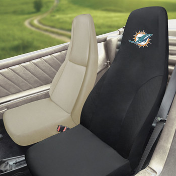 Miami Dolphins Black Car Seat Cover