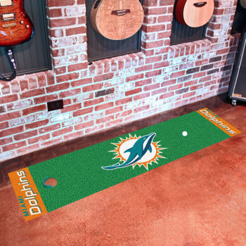 "18"" x 72"" Miami Dolphins Putting Green Runner Mat"