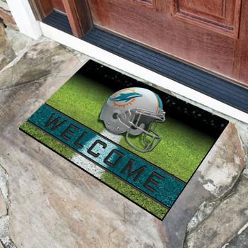 "18"" x 30"" Miami Dolphins Turquoise Crumb Rubber Door Mat"