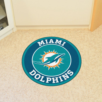 "27"" Miami Dolphins Roundel Round Mat"