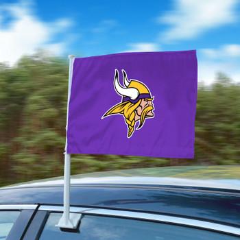 "11"" x 14"" Minnesota Vikings Purple Car Flag"