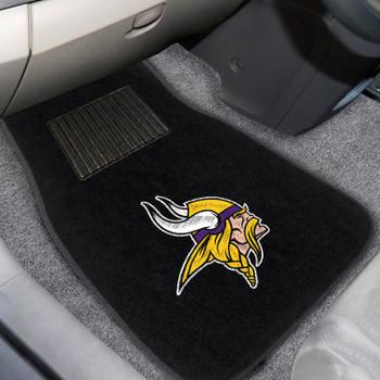 Minnesota Vikings Embroidered Black Car Mat, Set of 2
